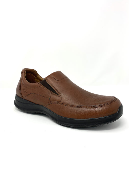 Leather Walking Shoe with Elasticated Upper