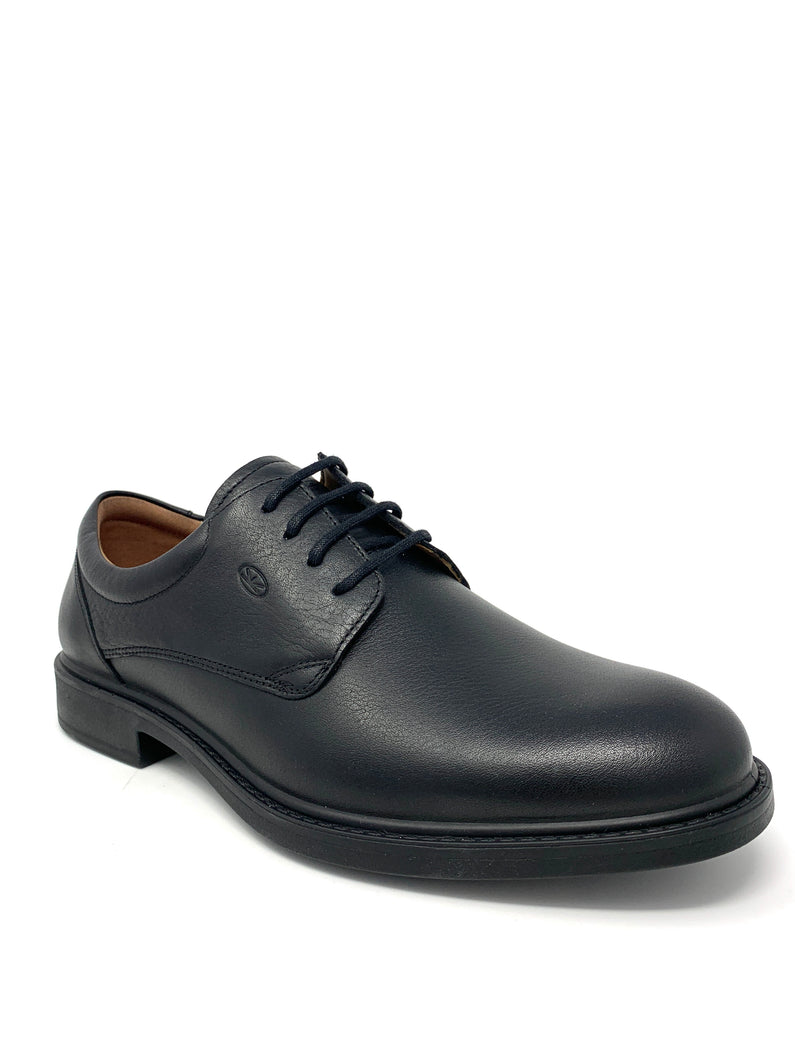 Classic Black Leather Walking Shoe
