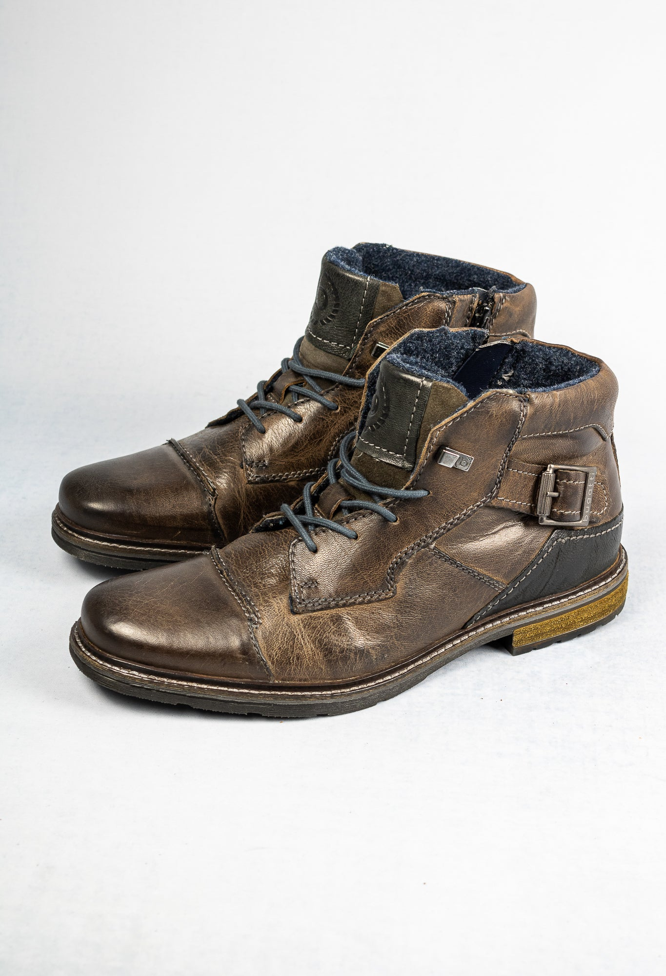 Bugatti Vandal 321-62238-3200 1100 Dark Grey Leather Men's Boots for sale online ireland