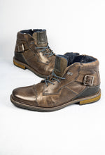 Load image into Gallery viewer, Bugatti Vandal 321-62238-3200 1100 Dark Grey Leather Men's Boots for sale online ireland
