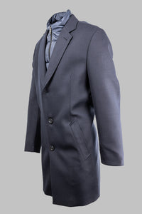 Bugatti 625228 64063 390 Navy Wool Coat with Quilted Insert for sale online ireland