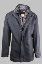 Load image into Gallery viewer, Bugatti 673300 64480 390 Navy Wool Coat with Quilted Insert for sale online ireland