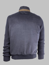 Load image into Gallery viewer, Bugatti 7600 65578 390 Navy Knit Wool Jacket with fur collar for sale online ireland