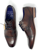 Load image into Gallery viewer, 311-66612-3500 6000 Bugatti Men's Brogue Suit Shoes In Brown for sale online ireland