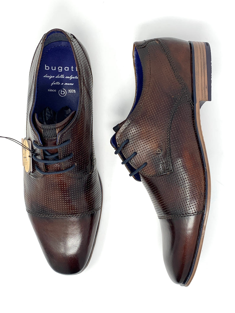 311-66612-3500 6000 Bugatti Men's Brogue Suit Shoes In Brown for sale online ireland