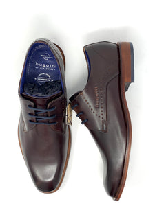 312-85602-1100 6060 Men's Comfort Wide Bugatti Leather Shoes in Brown for sale online ireland
