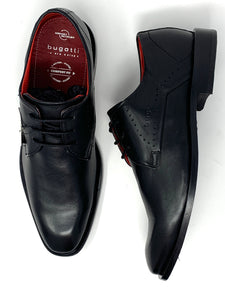 312-85602-4000 1000 Men's Comfort Wide Bugatti Leather Shoes in Black for sale online ireland