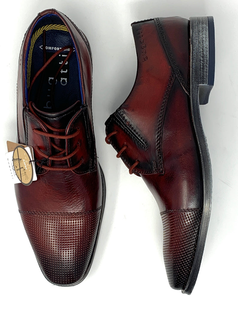 311-90902-3500 Men's Comfort Wide Bugatti Shoes for sale online ireland oxblood red
