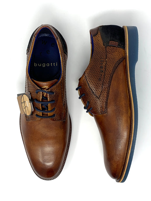 311-64702-4114 6341 Cognac & Dark Blue Men's Bugatti Shoes for sale online ireland