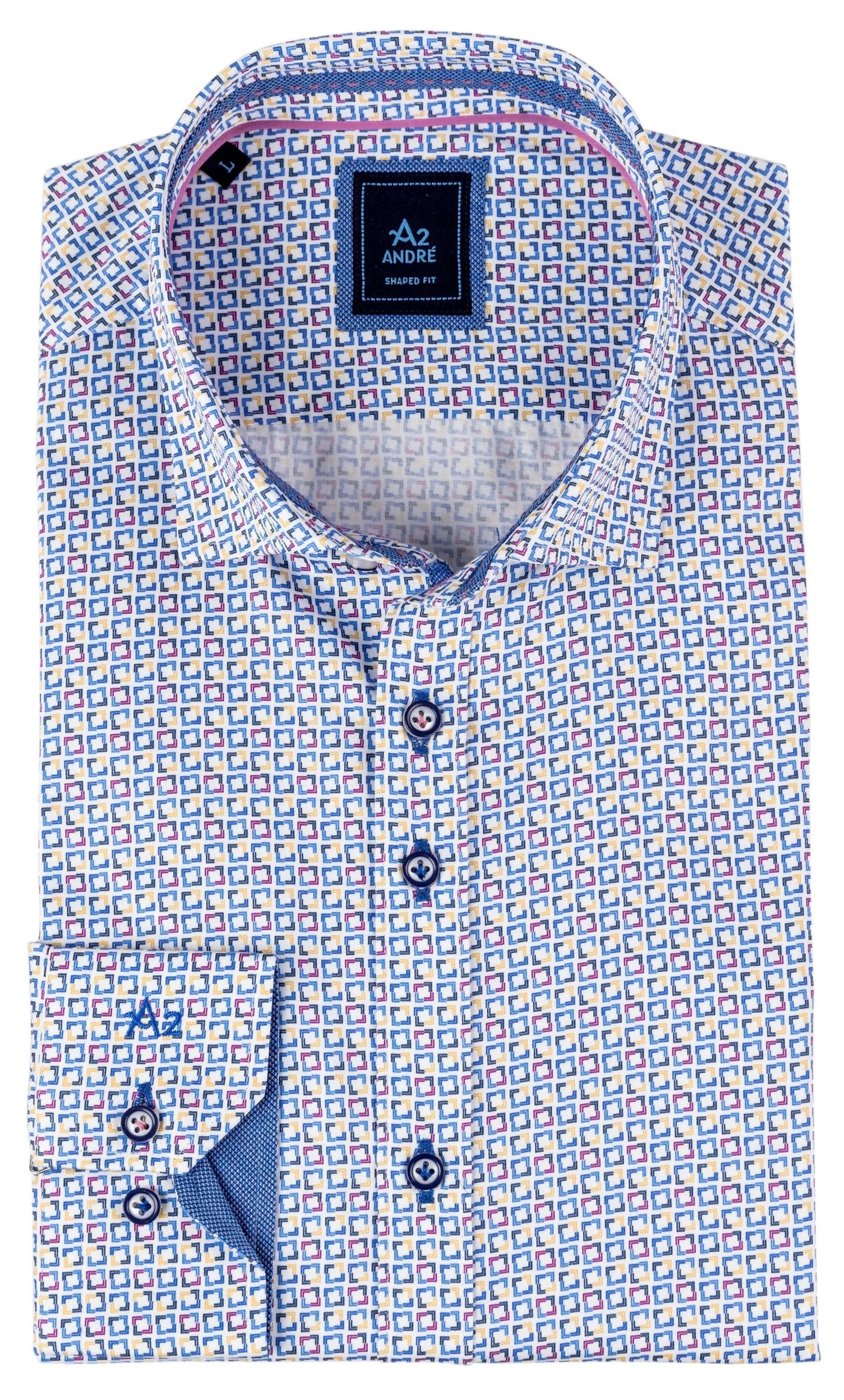 A2 Corfu Blue Long Sleeve Shirt