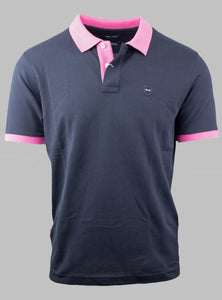Eden Park Navy Polo Shirt with Pink Tipping E21MAIPC0015 BLF for sale online Ireland