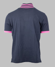 Load image into Gallery viewer, Eden Park Navy Polo Shirt with Pink Tipping E21MAIPC0015 BLF for sale online Ireland