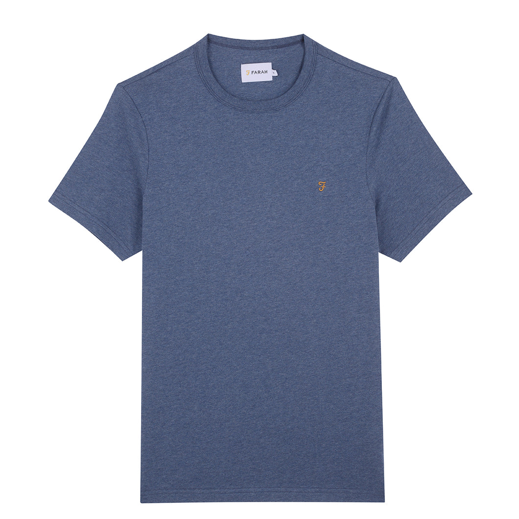 F4KF9044 421 Denim Marl Farah Mens Slim Fit Tee stocked & for sale online ireland