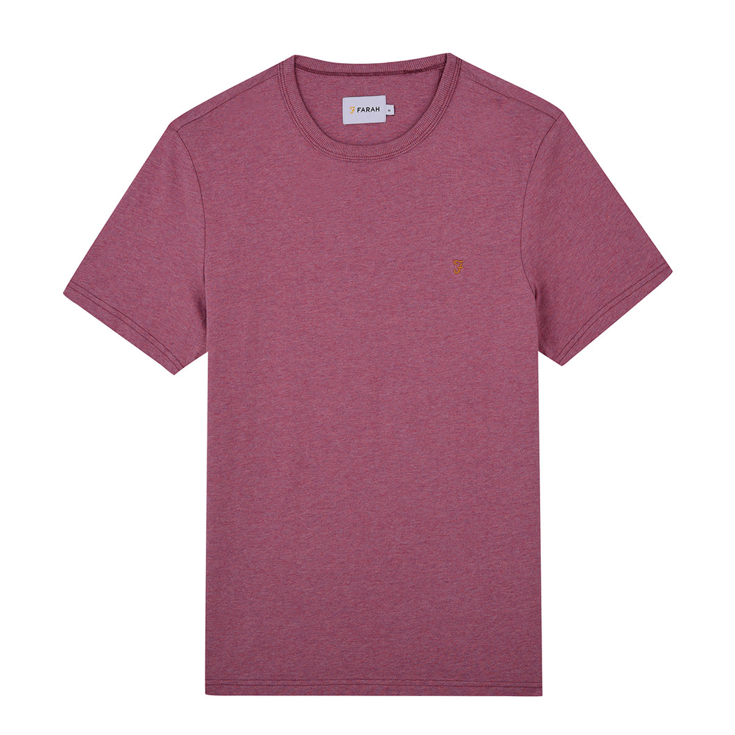 F4KF9044 662 Dusky Rose Farah Mens Slim Fit Tee stocked & for sale online ireland