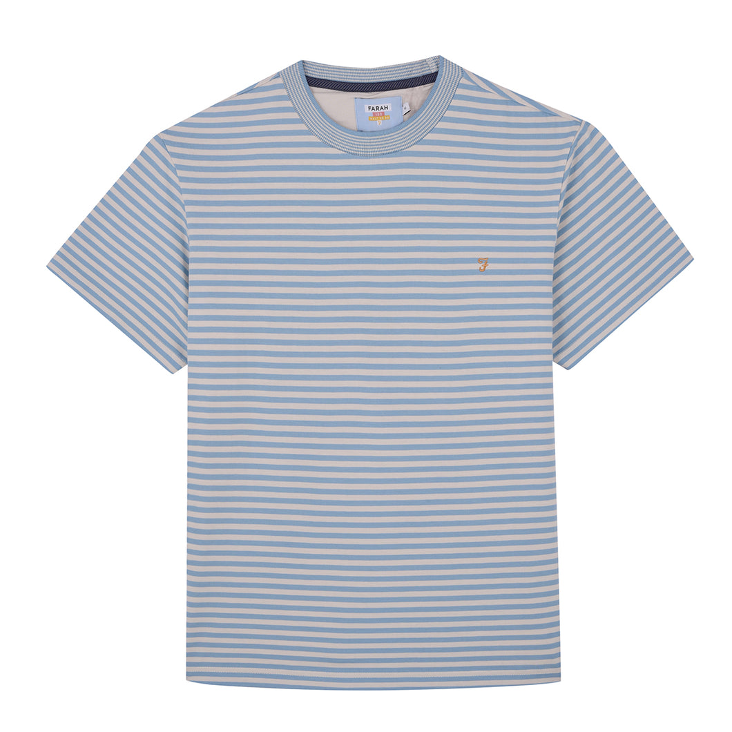 Galveston Striped Men's T-Shirt Moonstone Blue F4KSA006 497 FOR SALE online ireland