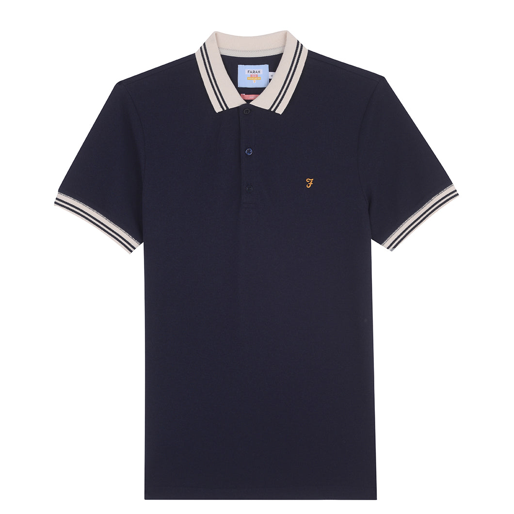 F4KSA038 Farah Stanton Mens Slim Fit Polo Shirt in Navy 412 for sale online ireland