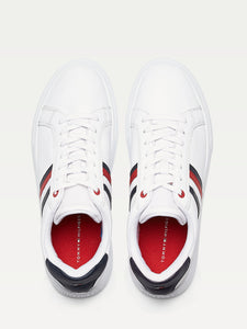 Tommy Hilfiger white logo trainer mens shoes online ireland FM0FM02668 YBS