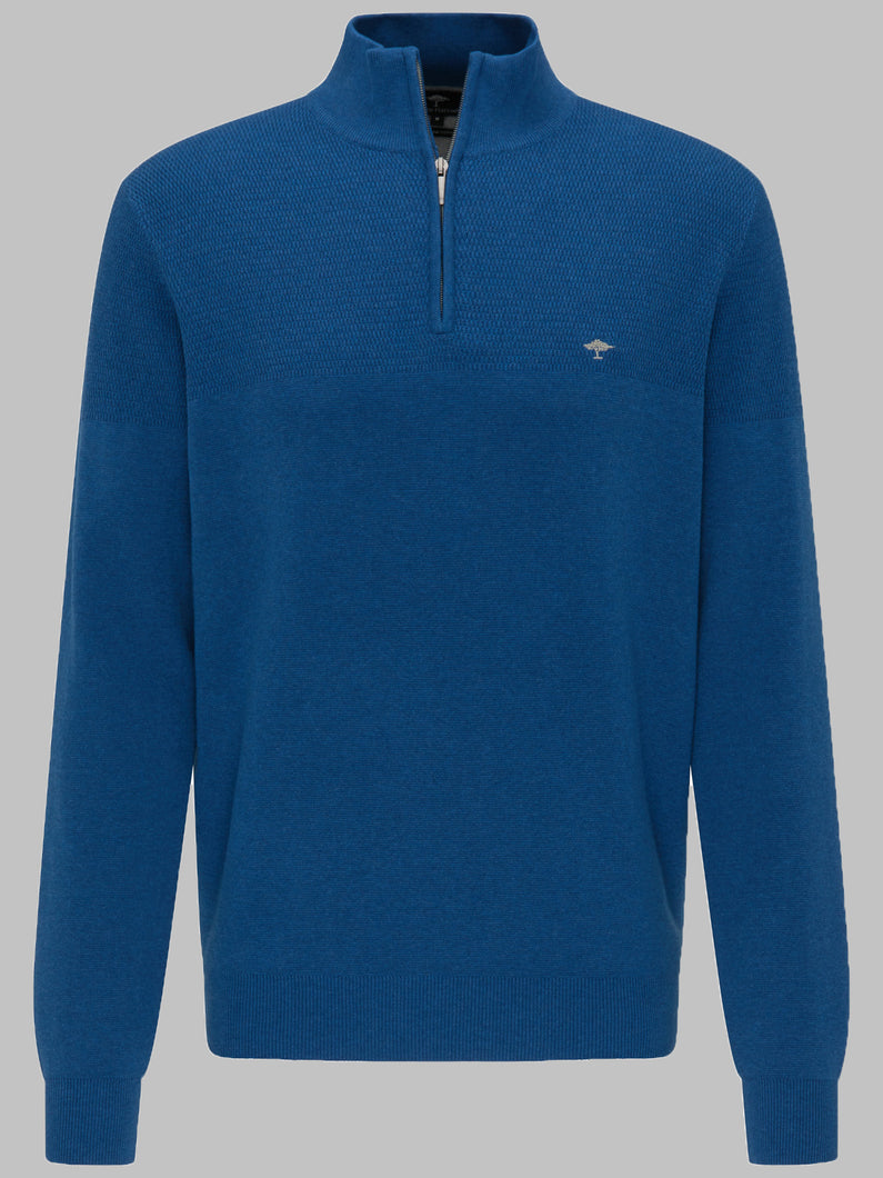 Fynch-Hatton 1220 222 Superfine Cotton Half Zip Men's Jumper for sale online ireland