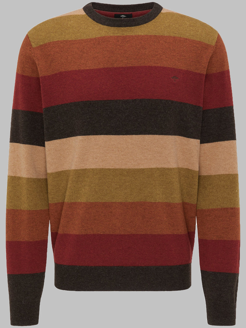 Fynch-Hatton 1220 304 Wool Multicoloured Crew Men's Jumper for sale online ireland