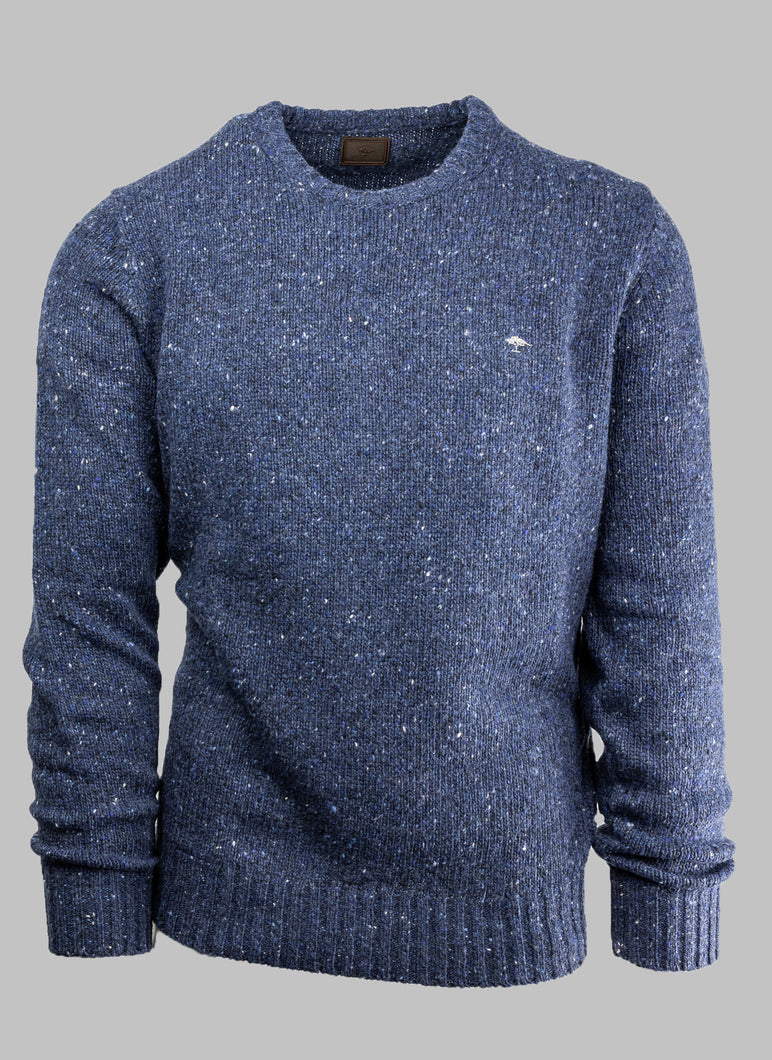 Fynch-Hatton 1220 400 | Heavy Merino Wool Knit With Spec Detail