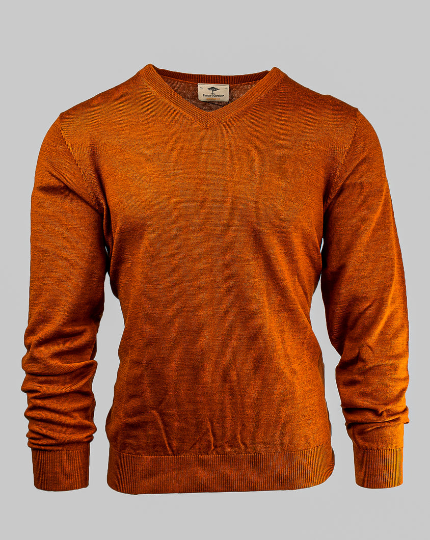 Fynch-Hatton 1220 851 | Merino Wool V-Neck Knit