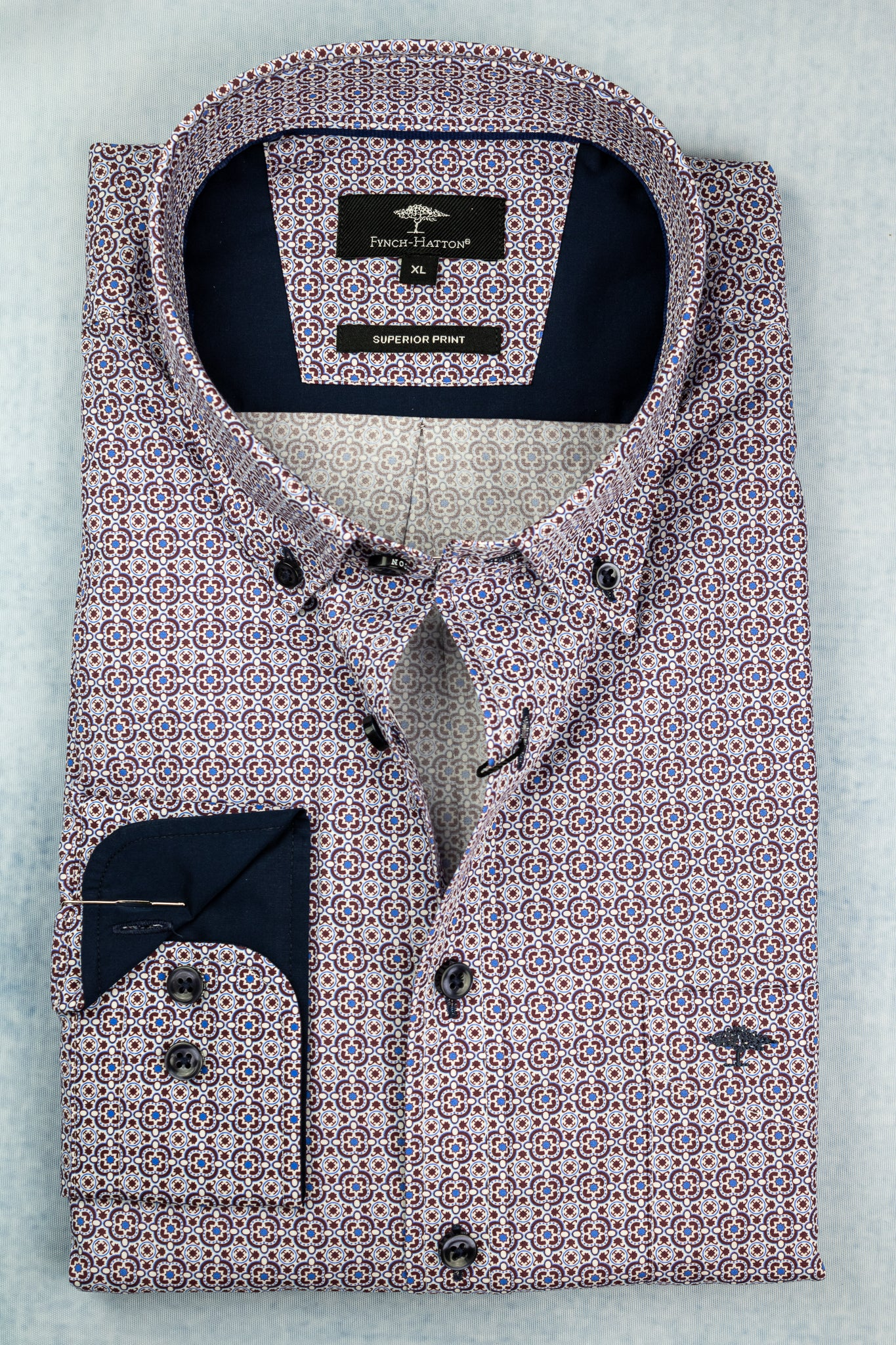 Fynch-Hatton 12208000 | Square Print Shirt