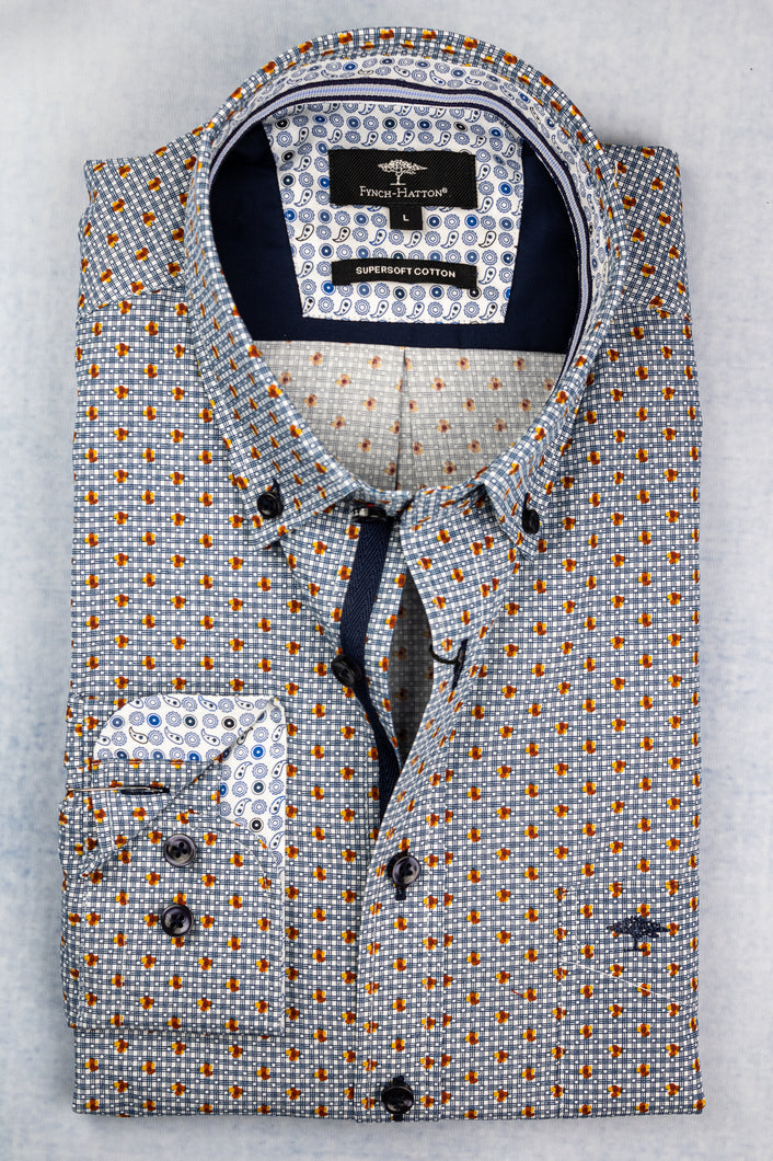 1220 8070 Fynch Hatton Printed Men's Shirt for sale online ireland