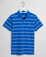 Load image into Gallery viewer, 2022000 422 Men's Stripe Cotton Polo Shirt for sale online ireland blue