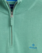 Load image into Gallery viewer, 8030545 351 Gant Men's Cotton Half-Zip Jumper for sale online ireland peppermint green