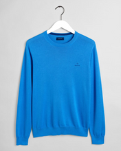 Load image into Gallery viewer, 8030541 445 Gant Cotton Crewneck Men's Jumper for sale online Ireland baby blue