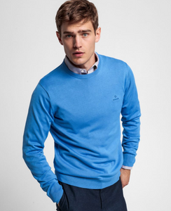 8030541 445 Gant Cotton Crewneck Men's Jumper for sale online Ireland baby blue
