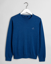 Load image into Gallery viewer, 8030541 902 Gant Cotton Crewneck Men's Jumper for sale online Ireland dark blue