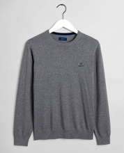 Load image into Gallery viewer, 8030541 092 Gant Cotton Crewneck Men's Jumper for sale online Ireland grey