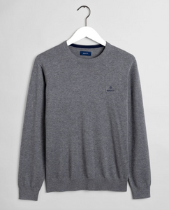 8030541 092 Gant Cotton Crewneck Men's Jumper for sale online Ireland grey