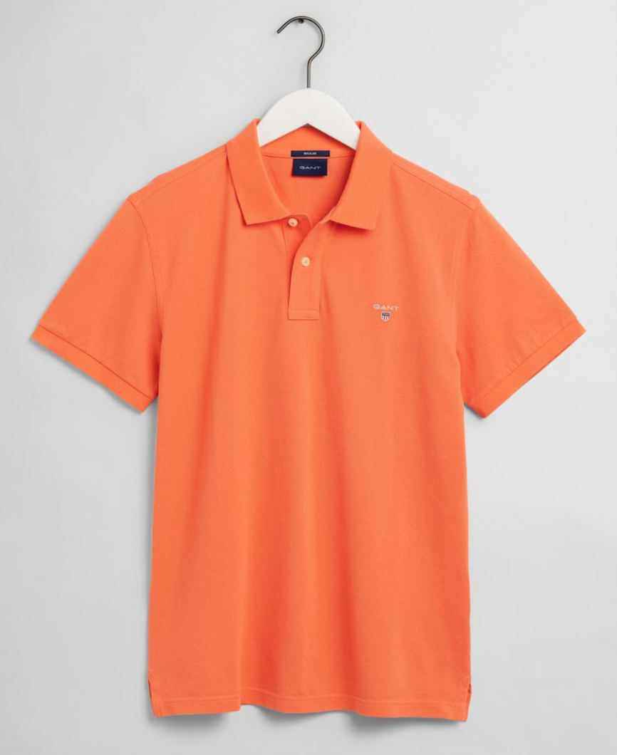 2201 859 Gant Men's Polo Shirt for sale online ireland coral orange