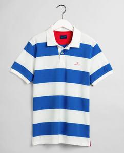 2052001 113 Gant Eggshell Barstripe Men's Polo Shirt for sale online ireland