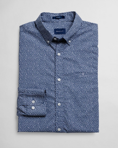3023930 442 Gant Navy Print Regular Fit Men's Shirt for sale online ireland