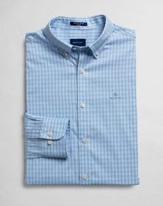 3061100 468 Capri Blue Men's Check Oxford Shirt in big sizes 4xl for sale online ireland