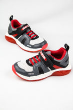 Load image into Gallery viewer, Geox Boys Velcro & Elastic Shoes J04CQA Grey and Red for sale online Ireland