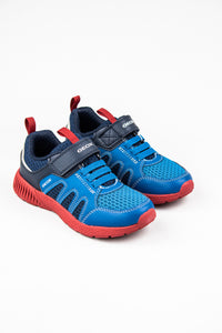 Geox Boys Velcro Shoes J156PA Navy & Petrol for sale online Ireland