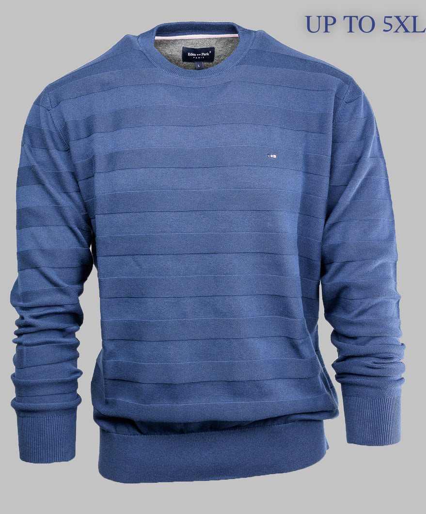 H20MAIPU0030 Eden Park Navy Blue Crew Neck Jumper for sale online ireland 4XL 5XL
