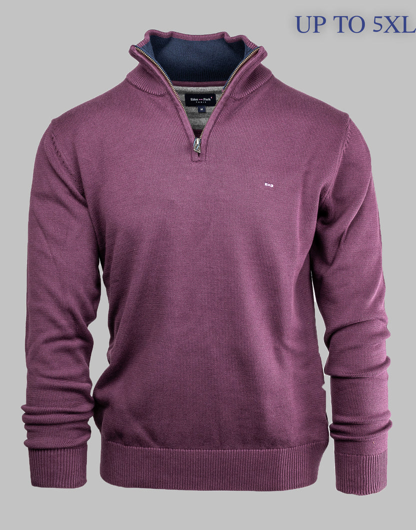 H20MAIPU0040 Eden Park Burgundy Half Zip Jumper for sale online ireland 4XL 5XL
