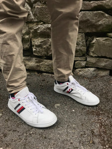 Tommy Hilfiger White Essential Leather Capsole Men's Trainers