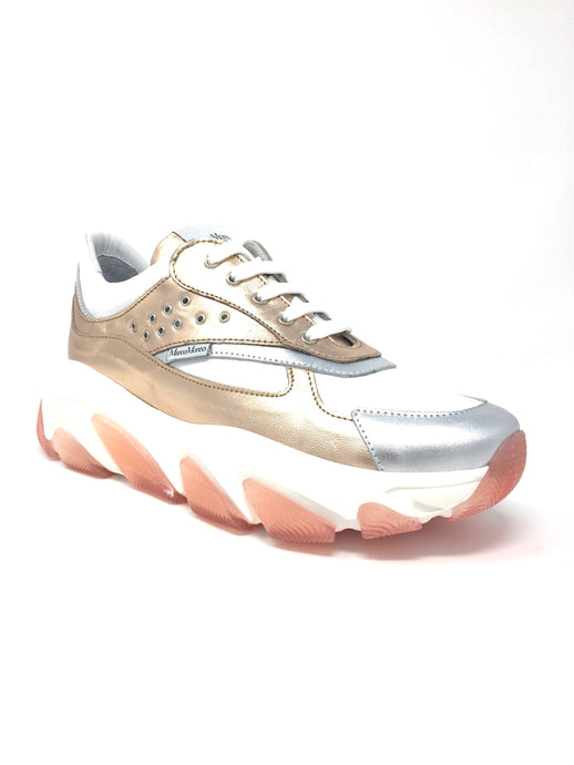 H800 Marco Moreo Jill White & Copper Ladies Platform Trainers for sale online ireland