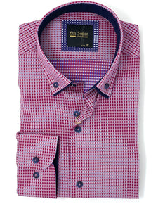 201 DC Dobby 6th Sense Men's regular fit printed shirt for sale online ireland