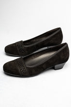Load image into Gallery viewer, 56.132 Gabor Comfort Wide Low Heel Court Shoes Black for sale online ireland