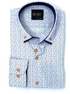 201 DC Prints 6th Sense Men's regular fit printed shirt for sale online ireland