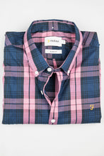 Load image into Gallery viewer, Farah | Brewer Slim Fit Tartan Dusty Rose Men's Shirt