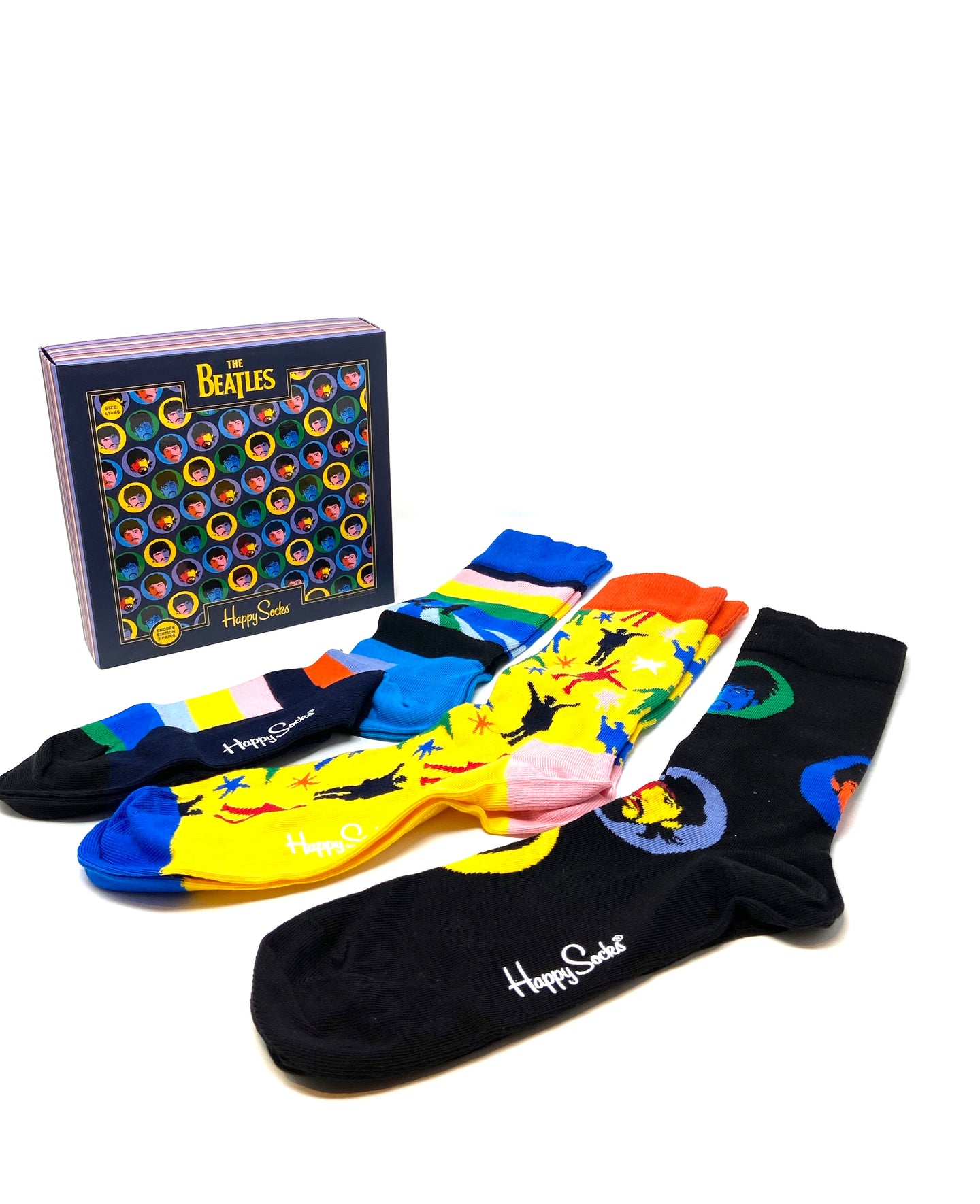 XBEA08 | Happy Socks 3 Pack Gift Box for sale online ireland beatles