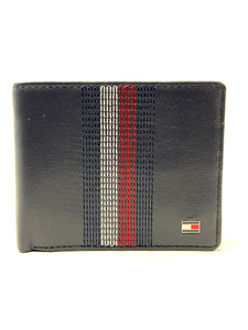 tommy hilfiger navy leather wallet for sale online ireland